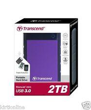TRANSCEND STOREJET 25H3P 2 TB USB 3.0 EXTERNAL Hard Disk Drive - 2 TB**