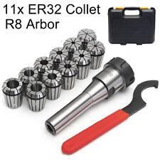 """R8 ER32 Collet Chuck Holder + 11x 1/8""""-3/4"""" Spring Collet CNC Milling Lathe Set"""