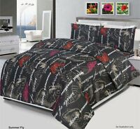 Summer Fly Duvet Cover Bedding Set With 2 Pillow Cases & Fitted Sheet All Size