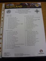 25/03/2015 Colour Teamsheet: Scotland v Northern Ireland  . Thanks for viewing o