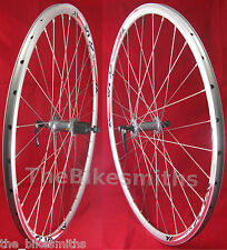 700c Alex(XLC) Pave/ Shimano Road Bike Silver Wheelset 8 9 10 Speed Front & Rear