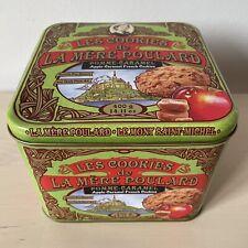 Green Les Cookies de La Mère Poulard 400g Biscuit Tin (Empty) Mont Saint Michel