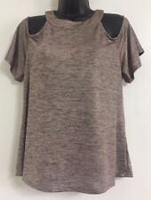NEW Ex Warehouse Bronze Pewter Bardot Off The Shoulders Blouse Top Size 12 & 14