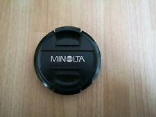 Original Minolta 49mm Front Lens Cap - Pinch Cap - Good Condition - FREEPOST