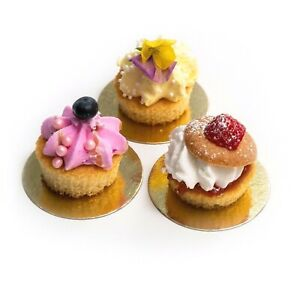 Premium Mini Double Sided Silver/Gold Cake Boards - Thick Strong Food Cute Cakes