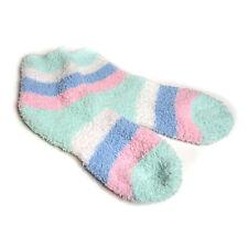 Dick weich Socken mint blau weiß rosa Kuschelsocken Söckchen Größe 36 37 38 NEU