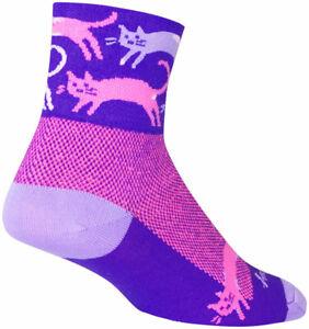 SockGuy Classic Pounce Socks   3 inch   Purple   S/M