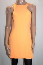 Ladakh Designer Tangerine Panel Sleeveless Day Dress Size 10 BNWT #SK49