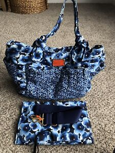 MARC BY MARC JACOBS PRETTY ELIZ-A BABY TRAVEL WEEKENDER SHOPPER TOTE BAG FLORAL
