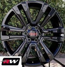 "22"" inch 2017 2018 GMC Yukon Denali OE Replica Wheels 22x9"" Gloss Black Rims"