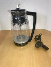 Vintage Sunbeam Fully Automatic  Coffee Maker  Percolator 12 Cup Nice Flowers!!