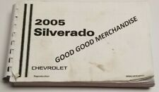 2005 CHEVROLET SILVERADO OWNERS MANUAL 1500 2500 3500 GAS REGULAR CAB V6 V8