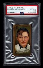 1911 T205 Christy Mathewson PSA 2.5 New York Giants Piedmont Back