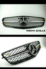 MERCEDES BENZ W204 1FIN GRILLE 2012-2013 C-CLASS AMG BLACK FRAME EDITION #1