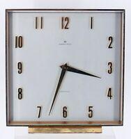 Hamilton Quartz Desk mantel Clock Swiss Made mid century MCM not working 6 inch
