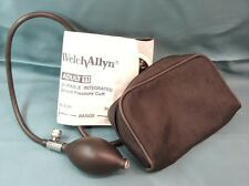 WELCH ALLYN Durable Integrated Blood Pressure Cuff Adult 11 In Case Great Cond.