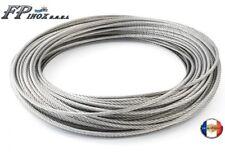 Câble inox A4 Trés Souple 7X19 Diamètre 3  4  5  6 mm  inox 316- A4