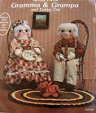 "Gingham Goose 22"" Grandparent Dolls Pattern clothes cat Vtg 80s Granny Gramps"