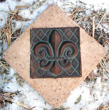 plastic fleur de lis distressed travertine tile mold casting mould