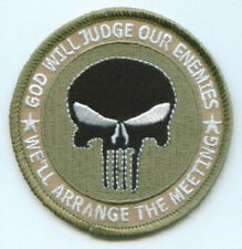 GOD WILL JUDGE OUR ENEMIES #2 EMBROIDERED BIKER PATCH