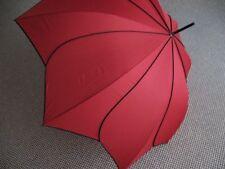 PIERRE CARDIN Glockenschirm Regenschirm Sunflower rot Blüte Stockschirm Damen