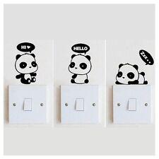 3x Panda DIY Switch Wall Stickers Vinyl Bedroom Home Mural Decor Decals Ornament