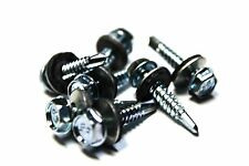 (100) 10x1 Unslotted Self Drilling Hex Head Sheet Metal Screws Neoprene Washer