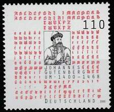 Duitsland Bund postfris 2000 MNH 2098 - Johannes Gutenberg