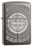 Zippo Compass Black Ice Windproof Pocket Lighter, 29232