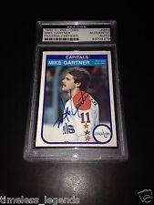 Mike Gartner Signed 1982-83 O-Pee-Chee OPC Capitals Card PSA Slabbed #83704379