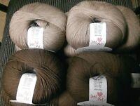 Debbie Bliss Rialto Lace 100% Extra Fine Merino Wool 5 x #31 Stone & 5 x #32 Bar