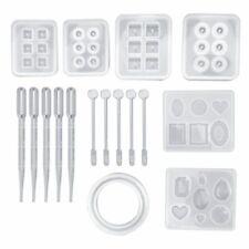 17 pcs/set Resin Casting Molds Epoxy Handicraft Kit Silicone Mold Making Jewelry