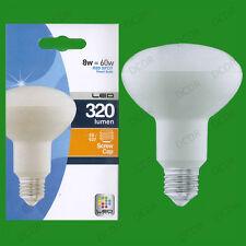 4x 8W (= 60W) R80 LED Bombilla foco reflector de ahorro de energía Lámpara Luz es E27
