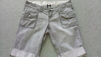 Vintage Rip Curl Shorts Grey Denim Shorts W82 cm (30-32) Surf Skate Casual