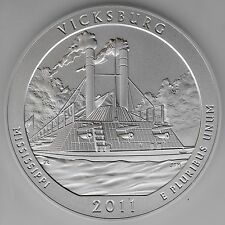 2011-P Vicksburg NMP 5 oz 99.9% Pure Silver Specimen Coin PCGS SP69 First Strike