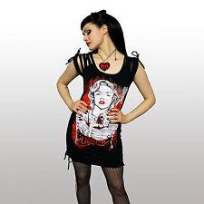 Vixxsin Ricochet Top Ladies Black Marilyn Clearance Sale Goth Punk Emo Gun