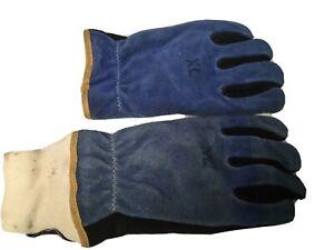 NEW SHELBY  Firefighters Gloves, Light Blue, Size XL