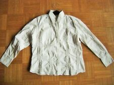 Sophisticated Cut Blouse Long Sleeve White Business Basic Size 44 2XL GB 18