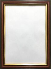 Mahogany Walnut with Gold Trim Photo Picture Frames Thin Moulding