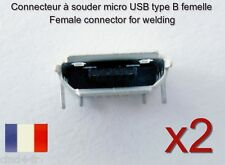 2x connecteur à souder micro USB type B femelle / 2x Female connector for solder