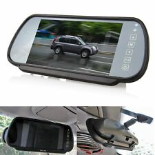 "7""LED TFT Color Screen Car Reverse Rear View Backup Camera DVD Mirror Monitor SH"