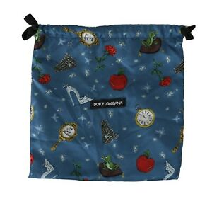 DOLCE & GABBANA Dustbag Cover Bag Blue Sicily Drawstring Shoebag 27cm x 26cm