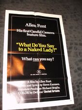 What do you say to a Naked Lady folded movie 1 sheet promo poster Allen Funt