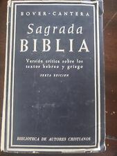 Biblia Bover Cantera Sexta Edicion!!! Muy rara!!!