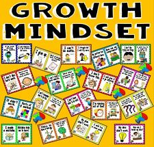 CD GROWTH MINDSET POSTERS DISPLAY TEACHING RESOURCES LEARNING BRAIN THINKING