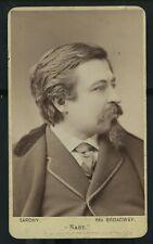 Vintage Cartoonist Artist Thomas Nast Father of American Cartoon CDV c 1870-80s