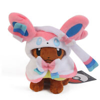 Pokemon Eevee Poncho Sylveon Plush Soft Animal Collection Kids Toys Doll 7 inch