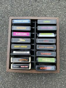 Atari 2600 16 Game Lot - All Cleaned - Free Shipping - Game Case Holder - Coleco