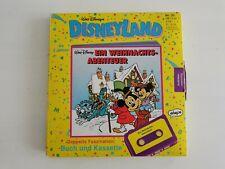 Walt Disney Disneyland Buch + Kassette Ein Weihnachtsabenteuer Vintage Scrooge
