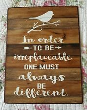 Inspirational Message Sign Country French Vintage Tin Metal Plaque Art Birds